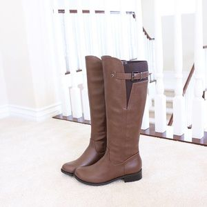 encina camel riding knee high boots